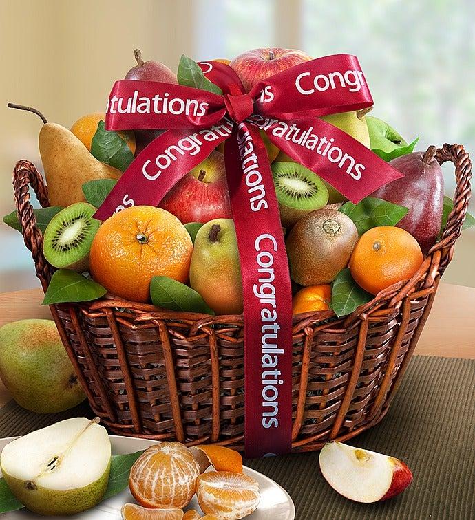 Premier Orchard Congratulations Fruit Gift Basket