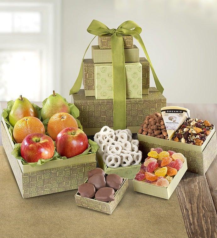 Sierra Sunrise Organic Fruit & Sweets Tower