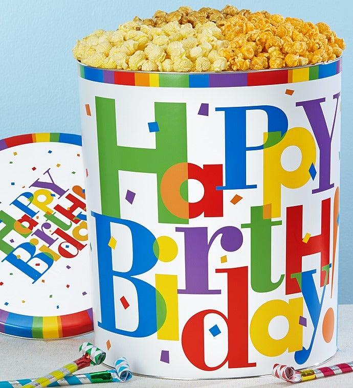 The Popcorn Factory Big Birthday Tin