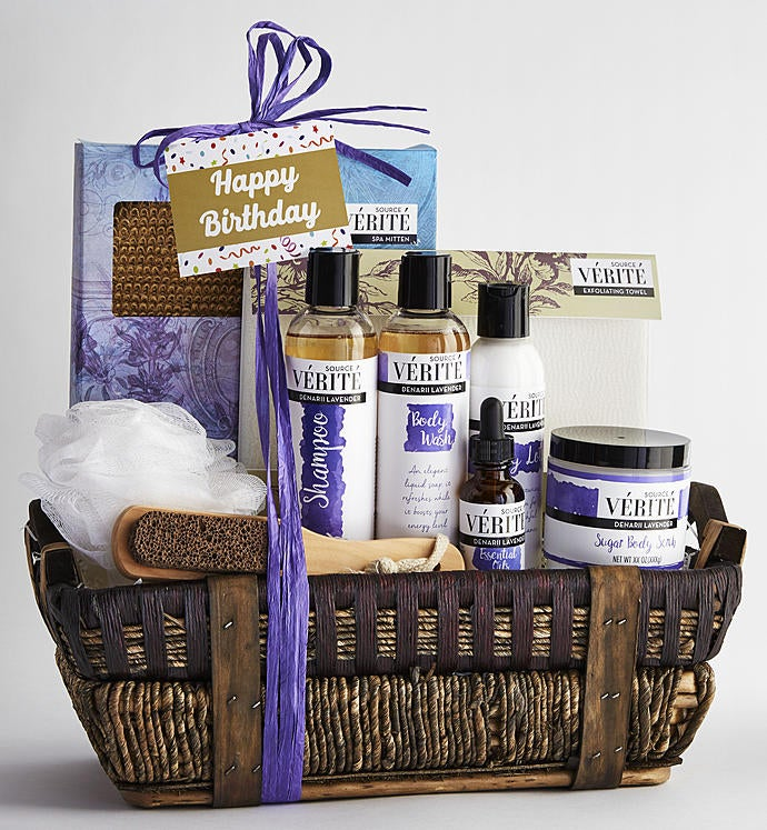 Gift Box Delivery Its Your Birthday Denarii Lavender Spa Basket