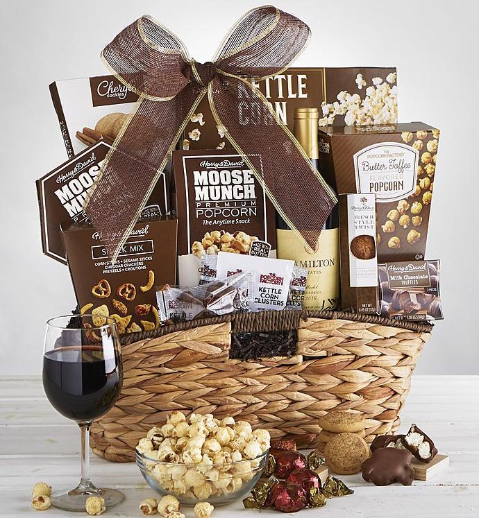 Premier Favorites Gift Basket with Wine