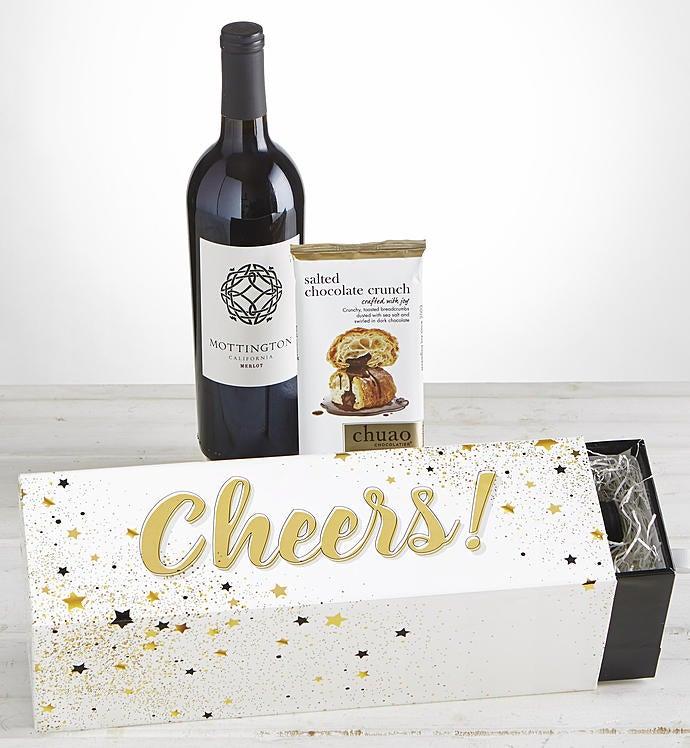 Cheers! Merlot Wine & Chocolate Celebration Box