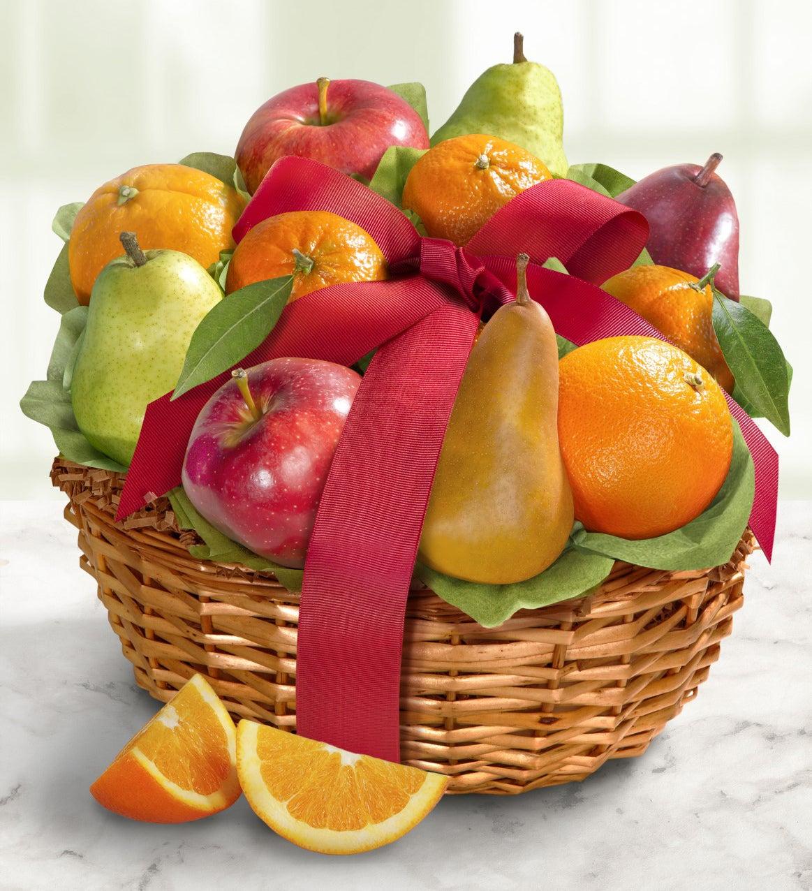 Harvest Comforts Fresh Fruit Gift Basket