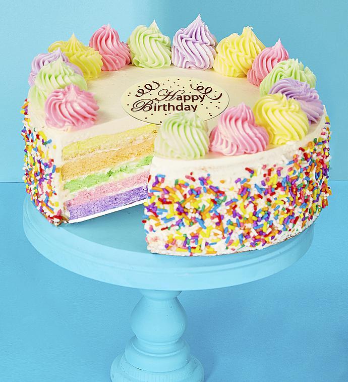 Bake Me a Wish! Happy Birthday Rainbow Cake