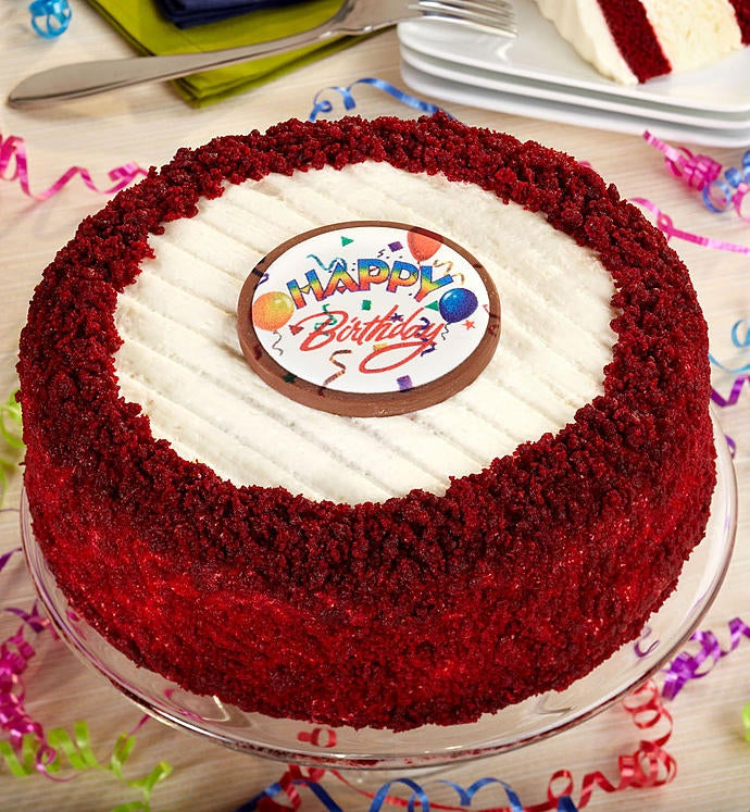Junior's® Happy Birthday Red Velvet Cheesecake